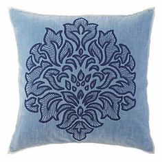 Gala Pillows in Blue (Solid Pattern, decorative pillows)   Room Furnishing Accessories, Accent Pillows from Company C (New)