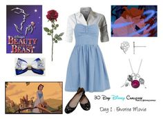 """""""Day 1 - Beauty and the Beast"""" by lola-twfanmily ❤ liked on Polyvore featuring Disney, Dorothy Perkins and belle by Sigerson Morrison"""