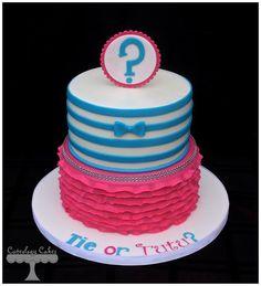 Tie or Tutu? - by CuteologyCakes @ CakesDecor.com - cake decorating website