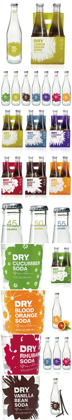 Dry Soda. Repinned by www.strobl-kriegner.com #branding #packaging #design #creative #marketing
