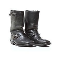 Blackbird Vintage Harley Davidson Engineer Boots (385 AUD) ❤ liked on Polyvore featuring men's fashion, men's shoes, men's boots, men's work boots, shoes, boots, men, mens vintage boots, mens biker boots and mens engineer boots