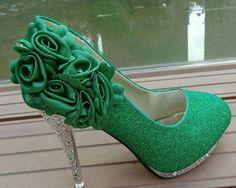 Die 158 Besten Bilder Von Shoes Green Bridal Shoe Bridal Shoes