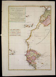 BONNE (Rigobert, 1727-1795), Partie occidentale de L'Afrique, contenant les pays et etats voisins de la côte, entre le Cap St. Vincent et le Cap Tagrin