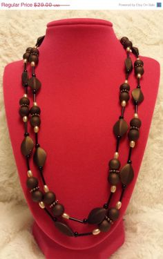Chocolate Brown Bead Necklace