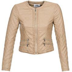 Leather+jackets+/+Imitation+leather+Vero+Moda+ARTIST+BEIGE+46.00+£