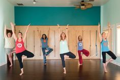 Yoga class at Claremont Yoga.