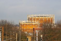 :: Gas holders, Wood Green, London near to Wood Green, Haringey, Great Britain by Julian Osley Old London, North London, In Ancient Times, Great Britain, Past, Childhood, Tattoo, Architecture, Wood