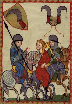 Soldat mit Armbrust, Codex Manesse, fol. 361v, 1300-1340, Zürich.