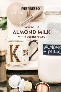 "Add this popular dairy-free milk to your favorite Nespresso recipes. Almond milk heats well. Warm it up and add it with some flavored syrup to your coffee or espresso. If you're going for pillowy foam, use an almond milk with added stabilizers or thickeners; often called ""Barista"" style. For best results with an Aeroccino milk frother, start with fresh almond milk that's as cold as possible. Like dairy milk, results vary by brand. It may take some trial and error to find your favorite. Nespresso Recipes, Nespresso Usa, Almont Milk, Home Coffee Stations, Dairy Free Milk, Milk Recipes, Barista, Syrup, Cheers"