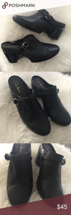 Cole Haan black buckle mule clogs. Cole Haan shoes Excellent used condition, only worn a few times. Run small IMO, more of a 9.5. Please review photos for details, no trades. Cole Haan Shoes Mules & Clogs