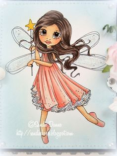 The Crafty Side Of Me....: Little Darlings Rubber Stamps - Fairy Wishes