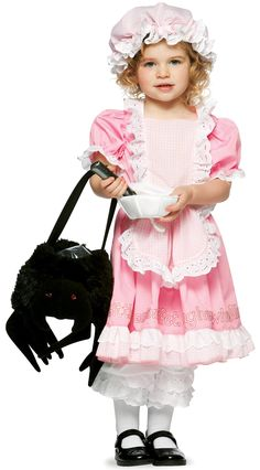 Are you or your child a fan of Little Miss Muffet? If so, then little miss muffet costume can be a great idea for Halloween dress up. The costumes. Spider Halloween Costume, Toddler Halloween Costumes, Halloween Fancy Dress, Baby Costumes, Halloween Ideas, Children Costumes, Halloween Halloween, Little Miss Muffet Costume, Nursery Rhyme Costume