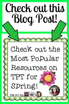Check out this blog post for some spring ideas to use in your classroom! #spring, #tpt, #popular, #teachers, #homeschool, #elementary, #middleschool, #highschool
