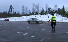 This unfortunate event happened two days ago in Sweden. Irresponsible driver was on a two lane state highway in Sweden that had some nice long stretches that. Pixar Movies, Sci Fi Movies, Police Cars, Police Officer, Funny Facts, Random Facts, Saab 9 3, Disney Secrets, Harry Potter Jokes