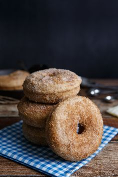 Baked Brown Butter Churro Douhgnuts | Shared Appetite