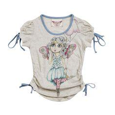 Paper Wings Cloud Fairy Puff Sleeve Tee: Designer Kid Clothes | Children's Clothing | Evolution Kids Emporium