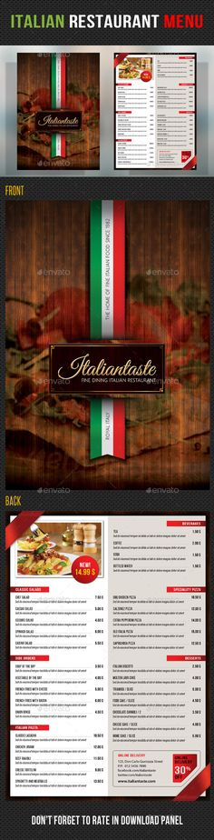 Italian Design Menu  Google Search  Menus