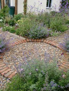 gravel patio vegetable garden - Google Search