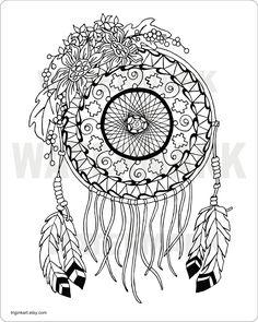 dreamcatchercoloringpagesforadults sunflower dream catcher adult