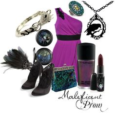 Maleficent created by gottalovedisneystyle. I would have gone to prom if this was available!!