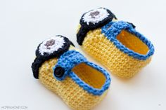 Minion Inspired Baby Bootied - Free Crochet Pattern