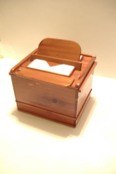 Recipe box cedar aromatic.  RB 324 by SmittysShop on Etsy, $64.00