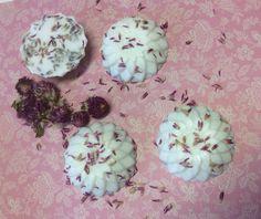 Glicerina, alfazema e perpétua roxa