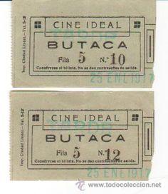 entradas de cine antiguas