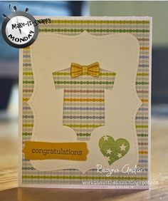 WORKIN' OUT THE INKS - Stampin' Up! Irresistibly Yours designer paper and Something for Baby stamp set and Framelits bundle