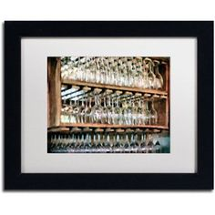 Trademark Fine Art Drinks on the House Canvas Art by Lois Bryan, White Mat, Black Frame, Size: 11 x 14