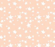 Stars - Blush by Andrea Lauren fabric by andrea_lauren on Spoonflower - custom fabric