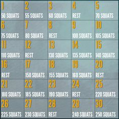30 Day challenges to add to your workout routine. 30 Day squat challenge  30 Day plank challenge