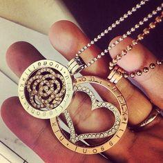 hupfio loves #NikkiLissoni: New necklaces! I like :):) #necklace #heart #flower #diamant #nikkilissoni