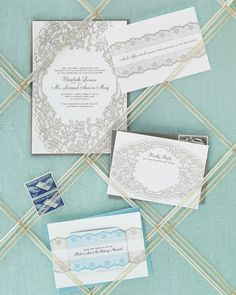 martha stewart DIY lace invites. download templates and then insert text box for wording. easy!