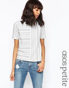 Image 1 ofASOS PETITE Top in Cut About Stripe
