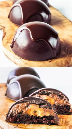 Chocolate Dome filled with Chocolate Mousse, Dulce de Leche and Chocolate Cake #chocolatedome #dome #chocolate #dulcedeleche #mousse #chocolatemousse #ganache #chocolatedesserts