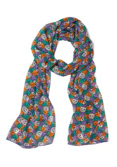 Meow or Never Scarf - Print with Animals, Quirky