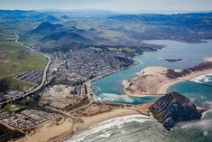 Morro Bay and the Nine Sisters from the Air Morro Bay California, Central California, San Luis Obispo County, The Nines, River, The Great Outdoors, West Coast, San Diego, Sisters