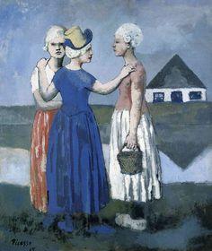 Pablo Picasso - Las Tres Holandesas, 1905 Pablo Picasso Art XX XX More Pins Like This At FOSTERGINGER @ Pinterest XXXX