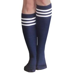 Skater style and Made in the USA Navy Socks, Royal Blue, Navy Blue, Navy Trench Coat, Skater Style, High Knees, Knee High Socks, White Tank, Tights