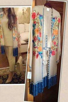 Outfit by Sania maskatiya Pakistani Fashion Casual, Pakistani Outfits, Hijab Fashion, Indian Fashion, Fashion Dresses, Pakistani Couture, Pakistani Dress Design, Stylish Dresses, Casual Dresses