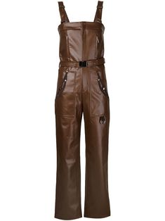 Koonhor faux leather dungarees