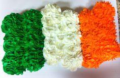 Irish flag cupcakes and cake.
