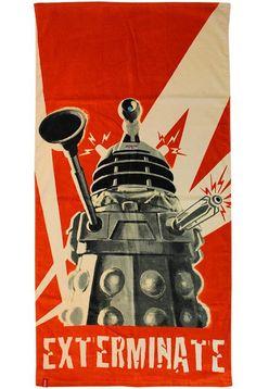 Doctor Who Dalek Exterminate Cotton Towel