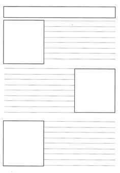 Blank Newspaper Template For Kids Printable
