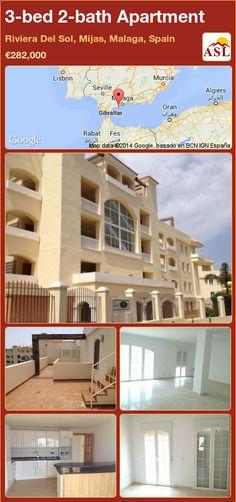 3-bed 2-bath Apartment in Riviera Del Sol, Mijas, Malaga, Spain ►€282,000 #PropertyForSaleInSpain