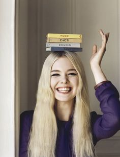 Elle Fanning in a photoshoot for the magazine Angelo Pennetta Vogue UK (June
