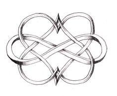 Double Heart Infinity tattoo