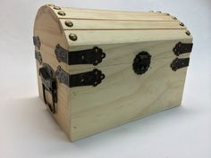 Solid Wood Pirate Treasure Chest or Wedding by TheCraftersMerchant, $24.95