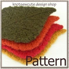 Felted Tea Cozy and Leaf Coasters  Crochet Pattern by knotsewcute, $3.99